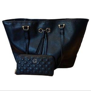 C. Wonder Black Leather Shoulder Bag & Wallet